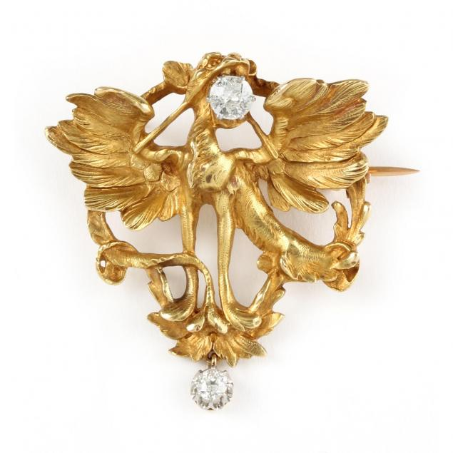 vintage-18kt-gold-and-diamond-brooch