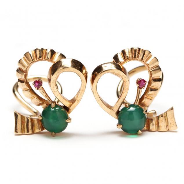 vintage-9kt-gold-and-gem-set-earrings-henry-george-murphy