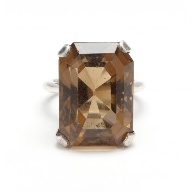 sterling-smoky-quartz-ring
