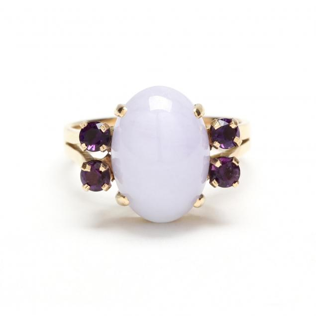 14kt-lavender-jadeite-and-amethyst-ring