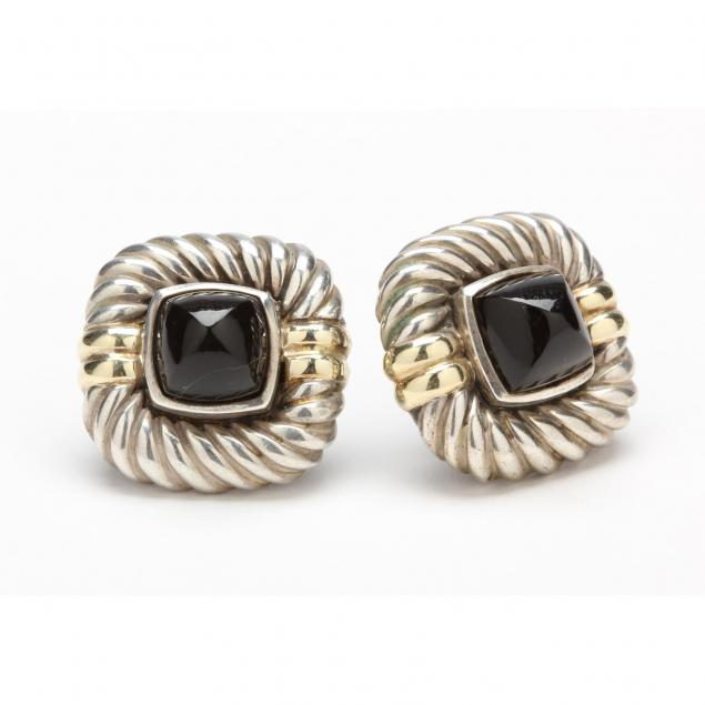 pair-of-14kt-and-sterling-silver-onyx-earrings-david-yurman