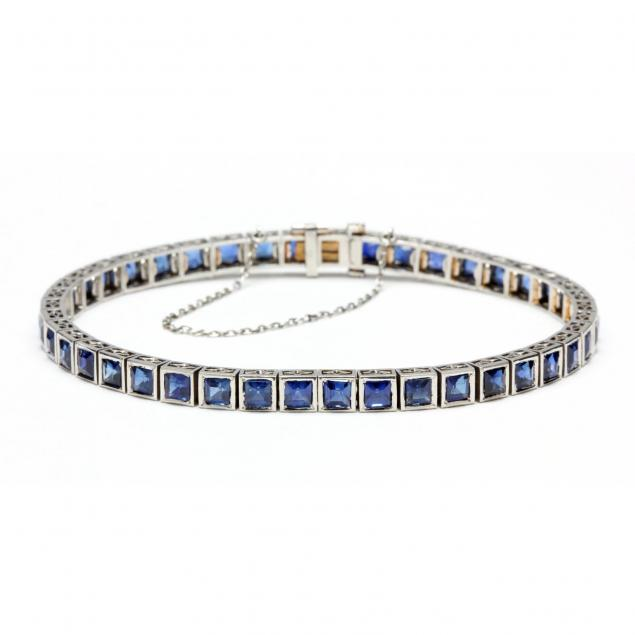 art-deco-platinum-and-sapphire-bracelet