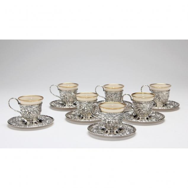 s-kirk-son-repousse-sterling-silver-demitasse-cups-saucers