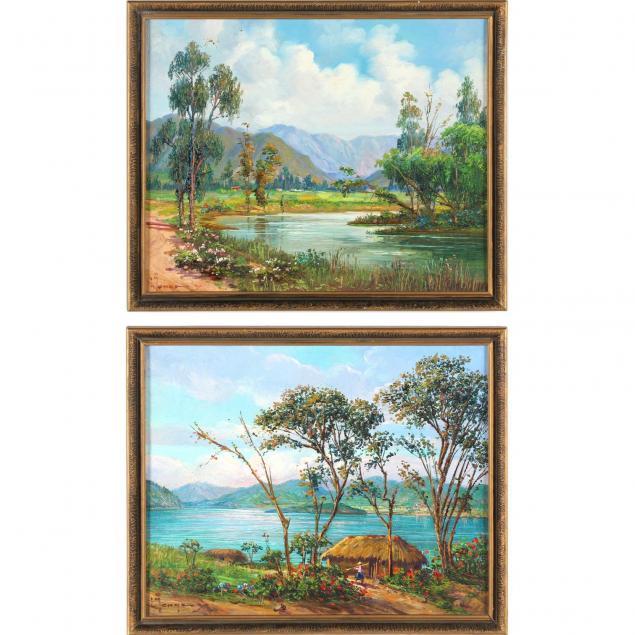 luis-monge-ecuadorian-b-1922-two-landscapes