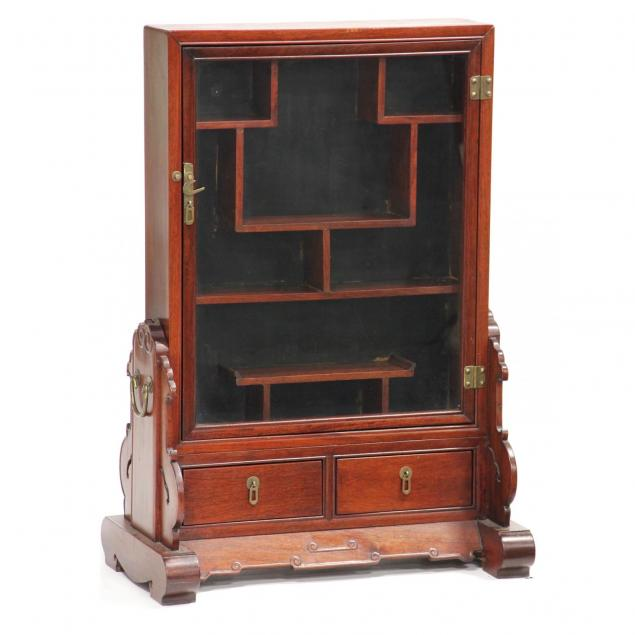 chinese-hardwood-curio-cabinet-on-stand