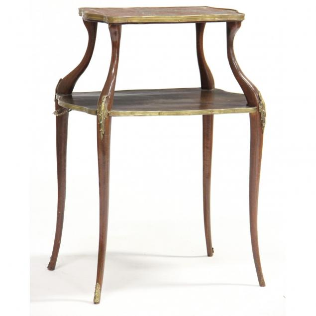 french-two-tier-marble-top-side-table