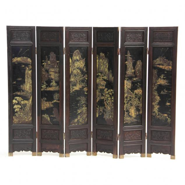 chinese-six-panel-diminutive-floor-screen