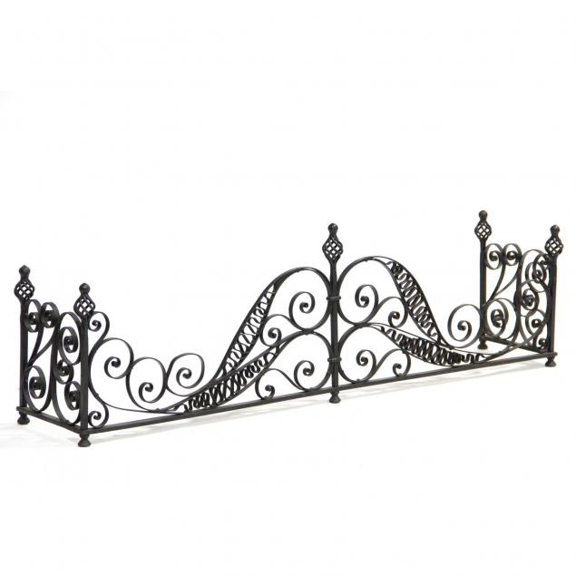 spanish-style-wrought-iron-fire-fender