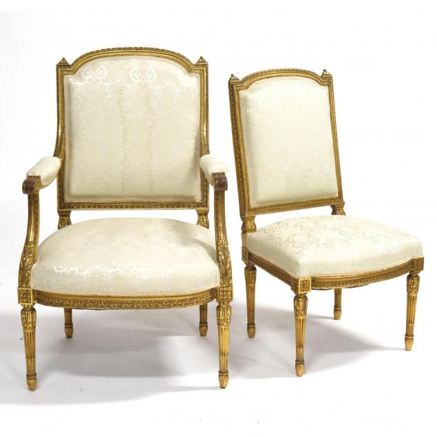 louis-xvi-style-fauteuil-and-side-chair