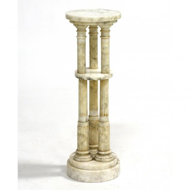 italian-classical-style-two-tier-marble-pedestal