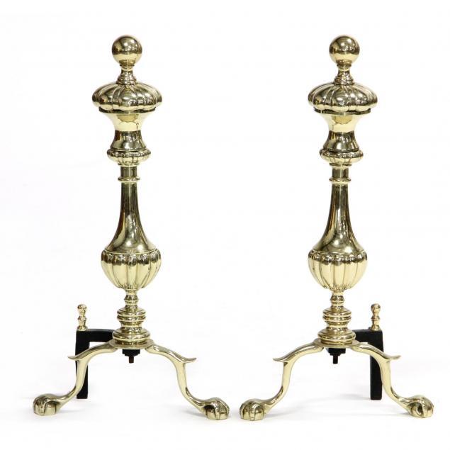 pair-of-brass-andirons
