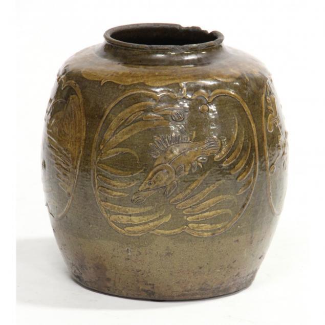 asian-slip-glaze-decorated-pottery-jar