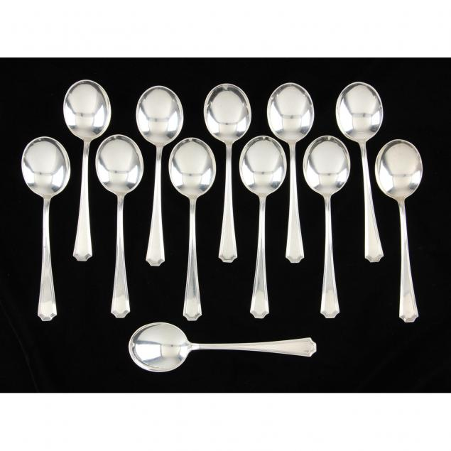 set-of-12-gorham-fairfax-sterling-silver-cream-soup-spoons