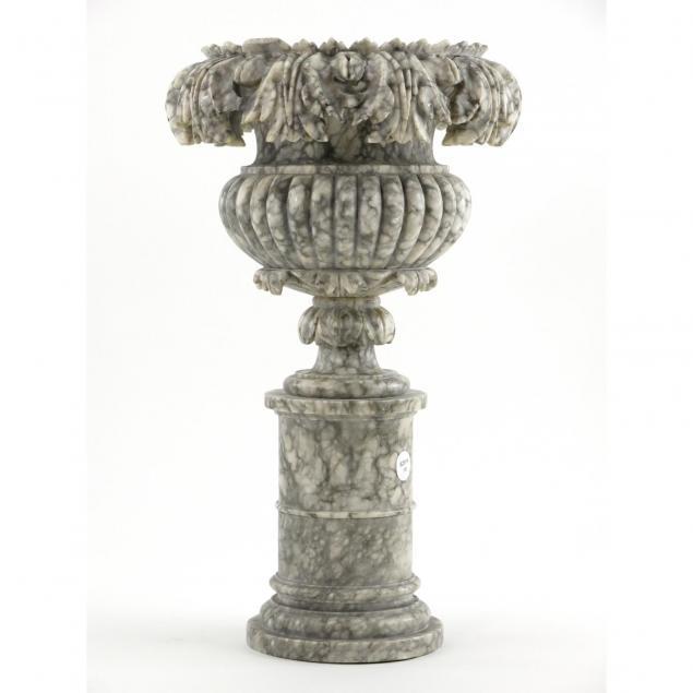 carved-marble-mantle-urn