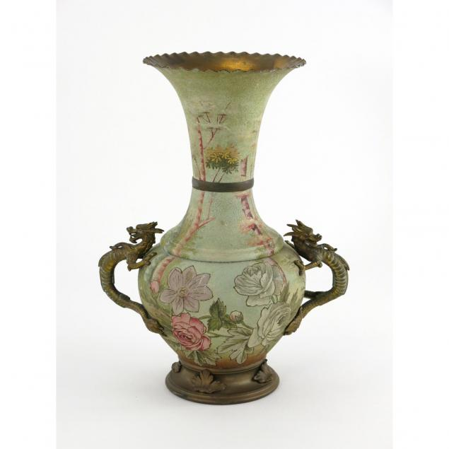 late-victorian-painted-brass-mantle-vase