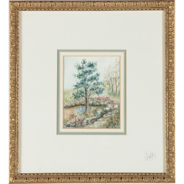 framed-watercolor-of-garden-path