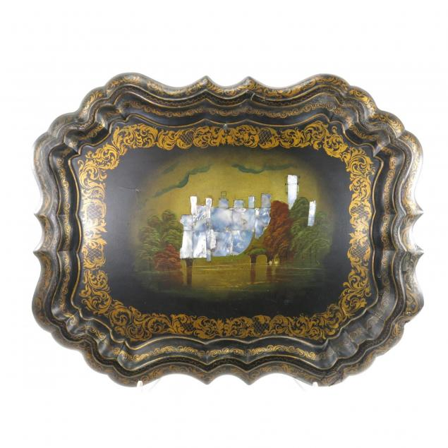 antique-mother-of-pearl-inlaid-mache-tray