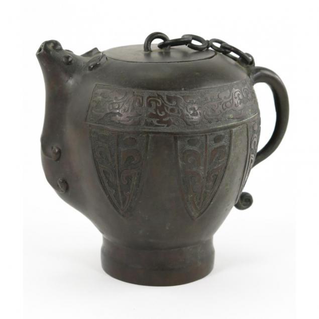 chinese-bronze-teapot