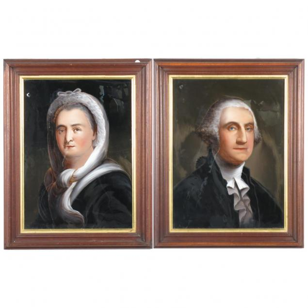 pair-of-reverse-painted-portraits-of-george-and-martha-washington