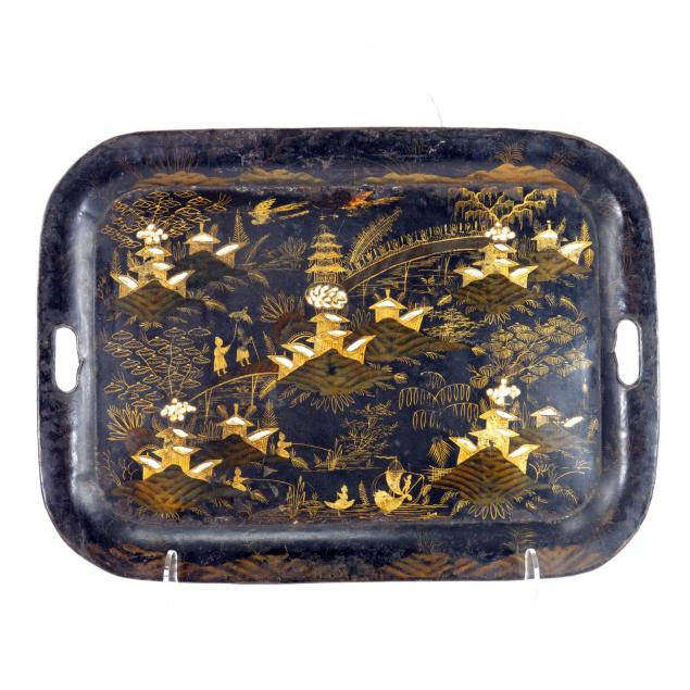 two-vintage-oriental-serving-trays