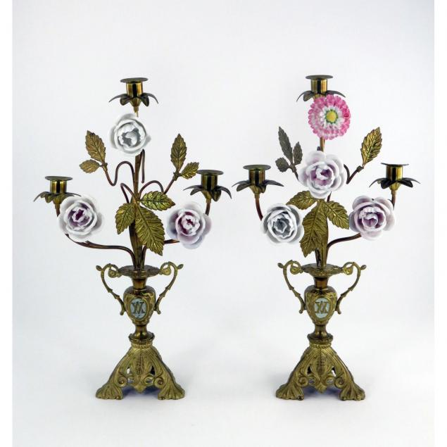pair-of-spanish-brass-and-porcelain-candelabra