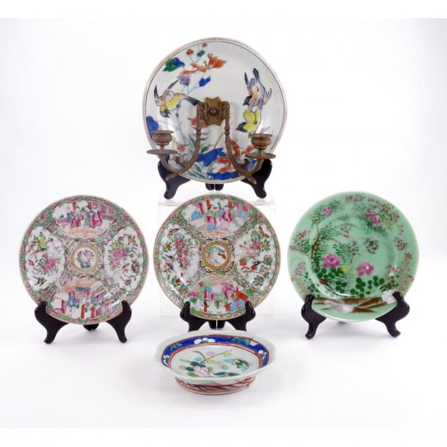 five-chinese-porcelain-plates