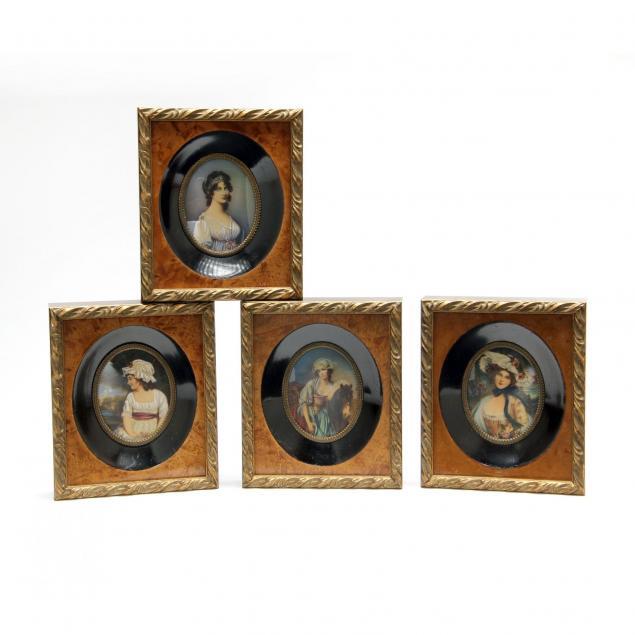 set-of-four-painted-portrait-miniatures