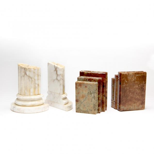two-pairs-of-carved-stone-bookends