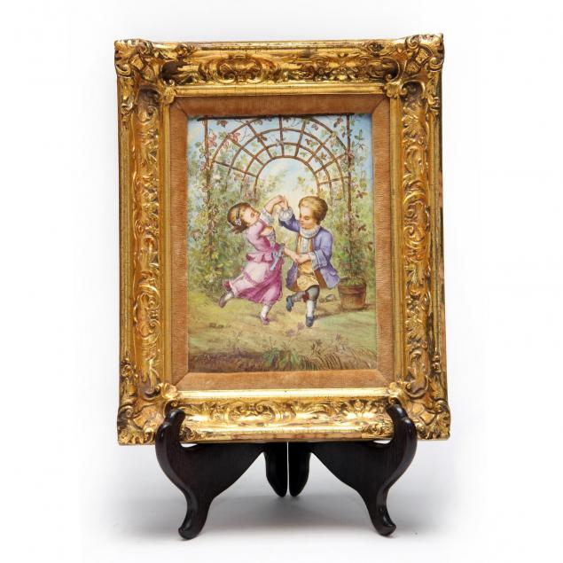 framed-english-porcelain-plaque