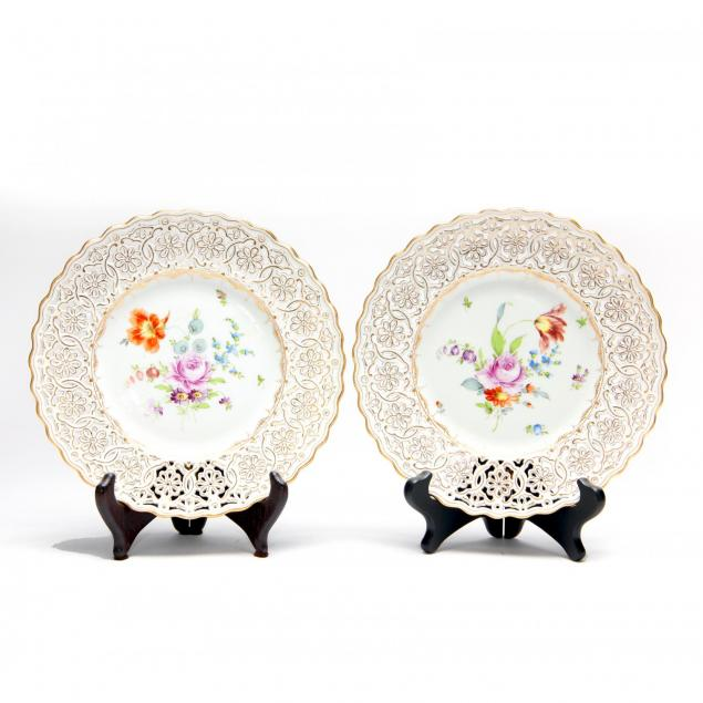 pair-of-dresden-reticulated-porcelain-plates