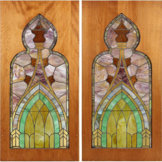 pair-of-victorian-stained-glass-panels