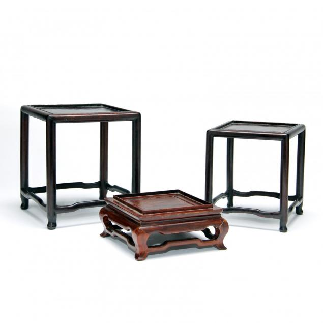 three-square-chinese-hard-wood-stands