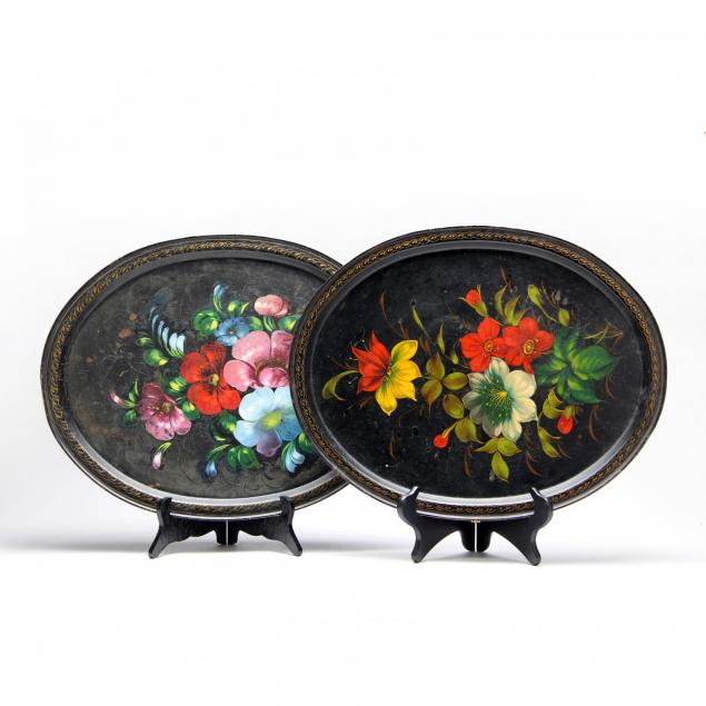 pair-of-painted-toleware-trays