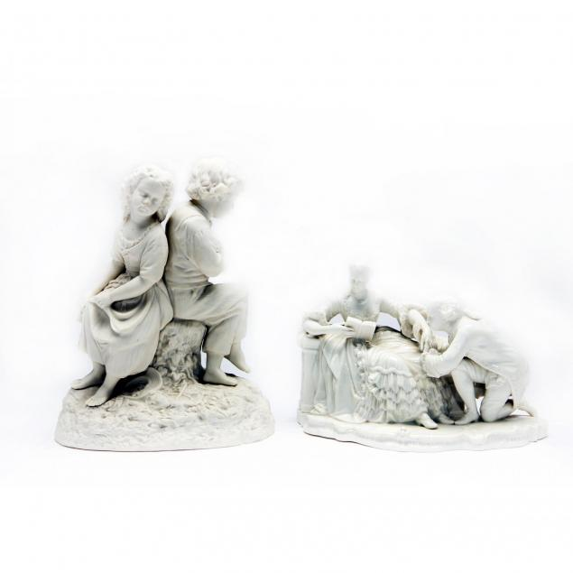 two-porcelain-figural-groups