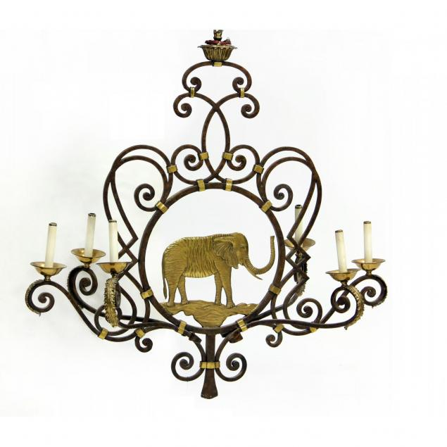 maitland-smith-elephant-form-chandelier