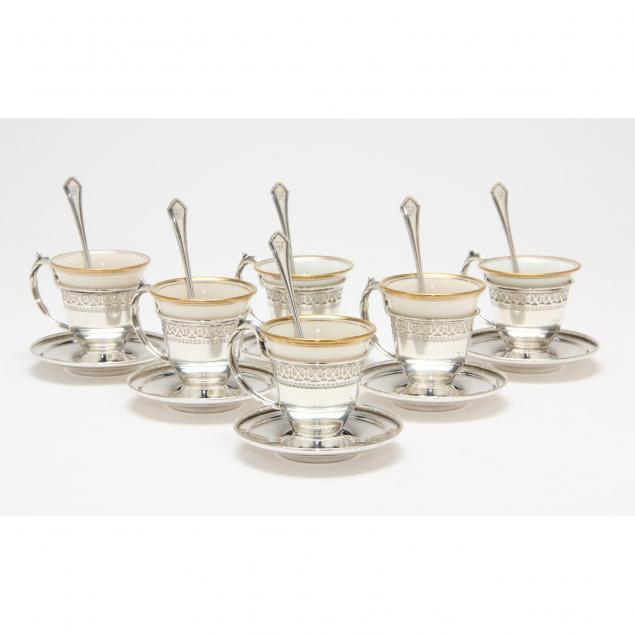sterling-silver-and-porcelain-demitasse-set