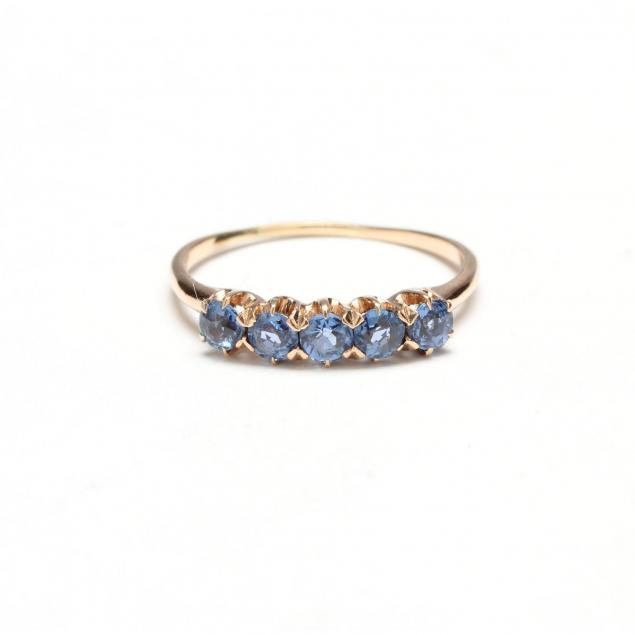 14kt-five-stone-sapphire-ring