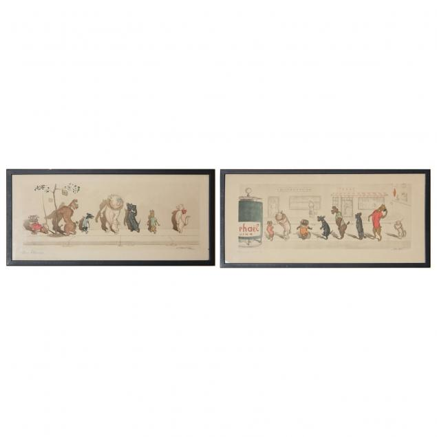 boris-o-klein-russian-1893-1985-two-hand-colored-etchings