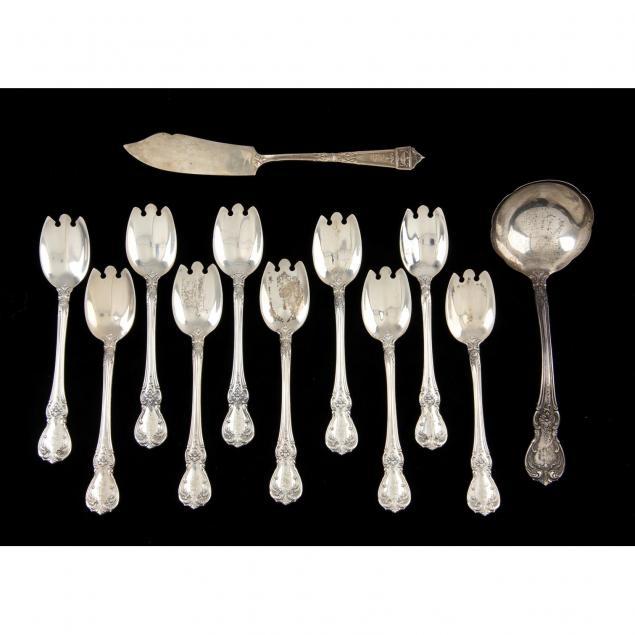 4 Moonbeam Cream Soup Spoons Sterling Silver  6-1//2 spoon Rogers international