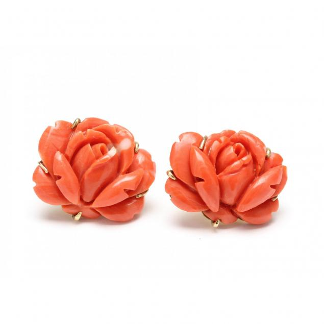 14kt-carved-coral-earrings