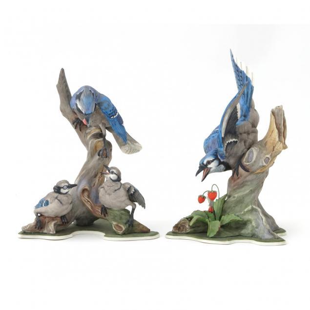 boehm-porcelain-bluejay-pair