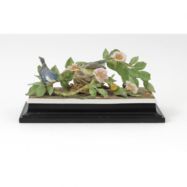 boehm-porcelain-cerulean-warblers-landscape-figural