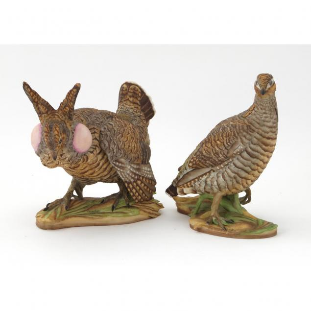boehm-porcelain-pair-of-lesser-prairie-chickens