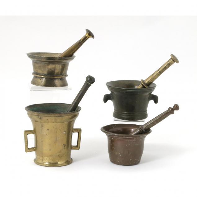 four-brass-mortar-and-pestles