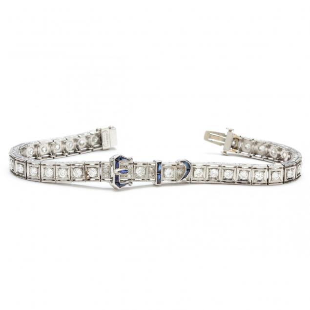 art-deco-platinum-diamond-and-synthetic-sapphire-bracelet