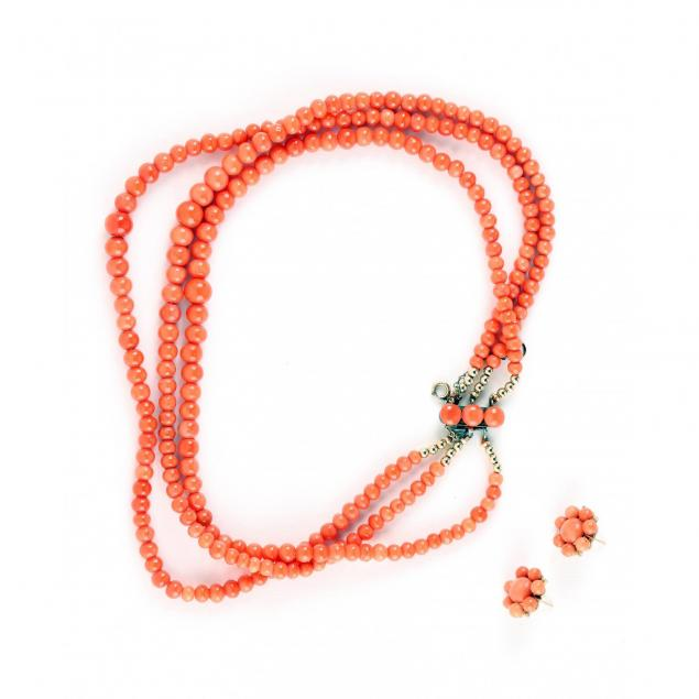coral-necklace-and-coral-earrings