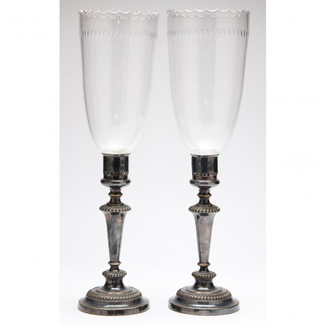 pair-of-19th-century-silverplate-hurricane-lamps
