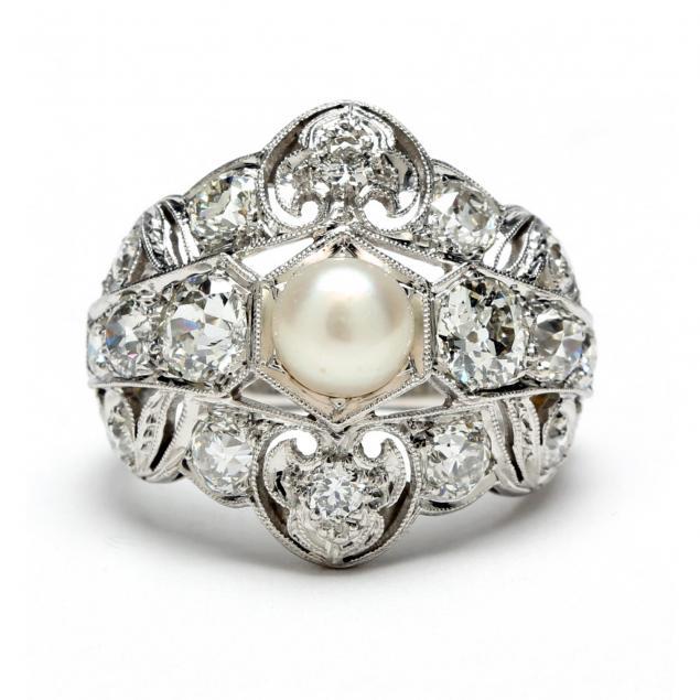 art-deco-platinum-diamond-and-pearl-ring