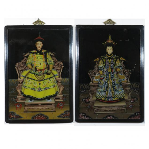 three-chinese-reverse-glass-paintings-of-qing-dynasty