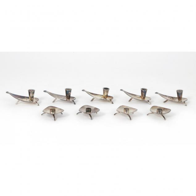 9-danish-modern-silver-plate-candle-holders